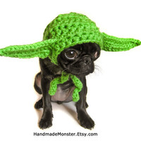 STAR WARS DOG hat costume yoda inspired pet geekery nerdy costumes jedi photo photography prop