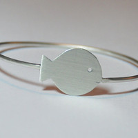 Sterling Silver Fish Bracelet