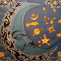 Sleeping Moon Tapestry