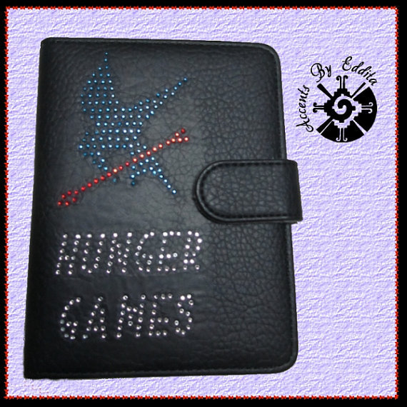 Sparkly Rhinestone E Book Cover Original Hunger Games Inspired MOCKINGJAY fits Kindle Fire and Nook Simple Touch