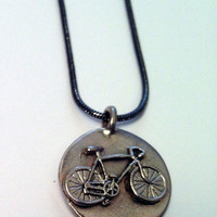 Bike Jewelry - Bike in Circle Pendant