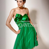 Buy Fashion Dark Green Empire Waist Chiffon Prom Dress with 102.99-SinoAnt.com
