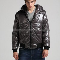 Mens Casual Gray Water Proof Hoody Coat XS/S/M/L/XL @M05H - Mens Outerwear - Men  - ClothingTalks Online Shopping