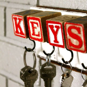 Red Block Key Rack