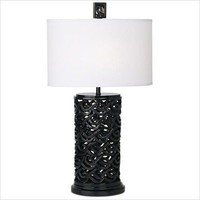 Waikoloa Beach Table Lamp in Black - Blanc et Noir
