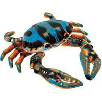 Plush Blue Crab 6 Inch Stuffed Crustacean By Fiesta at Stuffed Safari