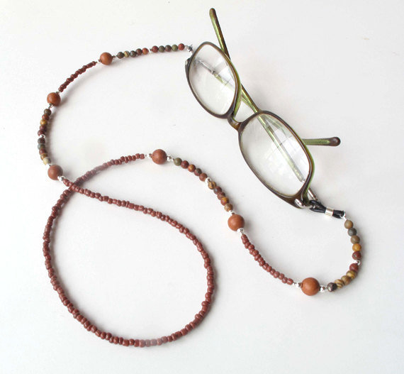 Eyeglass leash, glasses holder, beaded sunglasses lanyard