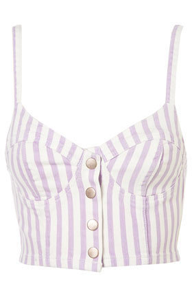 MOTO Lilac Stripe Denim Bralet