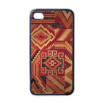iPhone Case - Vintage Native American Fabric - iPhone 4 Case Cover