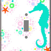 Nautical Sea Horse Single Light Switch Cover