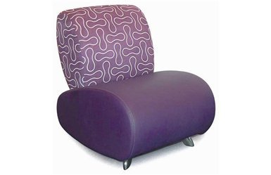 Sofa 87 - Purple, Living Room Furniture, Leather Armless Chair: Nyfurnitureoutlets.com