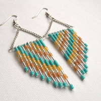 70's inspired Beaded Earrings
