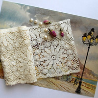Gorgeous Wide Ivory Spanish Cotton Lace