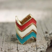 Chevron Stacks Ring, Sweet Affordable Jewelry