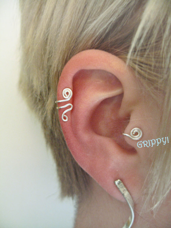 ronin set of right ear cuff a tragus from zydesigns on