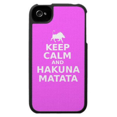 Keep Calm and Hakuna Matata Iphone 4 Cover from Zazzle.com