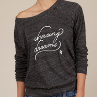 Chasing Dreams Eco Fashion Slouchy Long Sleeve Pullover in Black