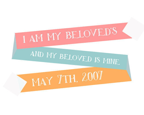 Custom Wedding Print - I am my beloved&#x27;s and my beloved is mine