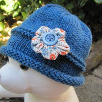 Flapper Style Baby Hat 0 - 3 Months on Luulla