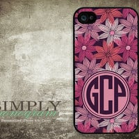 iphone 4 case - iphone 4s case - plastic or silicone rubber - monogram design