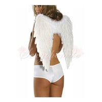Adult Cosplay Angel Wings Halloween Cheap Angel Costumes White [TQL120322002] - 14.59 :