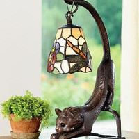 Stained Glass Cat Lovers Table Lamp - Wind and Weather