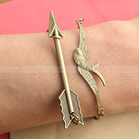 Mockingjay bracelet and Arrow Bracelet