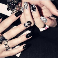 "Rock Style - "" The Cross "" Nails"