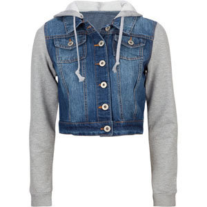 HIGHWAY Fleece Sleeve Womens Denim Jacket 197296827 | Jackets | Tillys.com