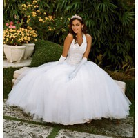Buy Tulle Ballgown with Satin Beaded Halter Bodice Style 6280 , from  for $198.26 only in Mydavidshouse.com.