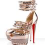 Christian Louboutin Isolde 160mm Sandals Nude