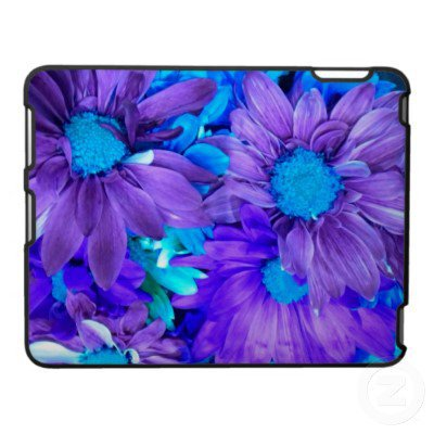Purple N Turquiose Bouquet iPad Case from Zazzle.com