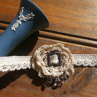 Choker Necklace - Vintage Inspired Bridal Crochet Lace Jewellery