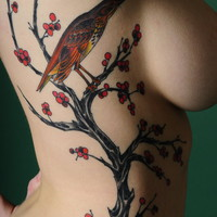 Cherry Blossom Tree: Body Art