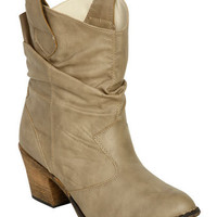 Short Leatherette Slouch Boot | Shop Trending Now at Wet Seal
