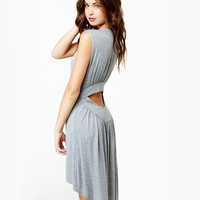Cute Grey Dress - Midi Dress - High-Low Dress - $33.00