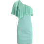 One Shoulder Sheer Frill Dress - Oasis - Polyvore