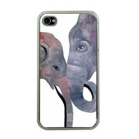Elephant Apple iPhone 4/4S, iPhone 3G/3GS, iPod Touch 4G - Fatherly Love