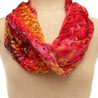Fuchsia Mix Feather Scarf