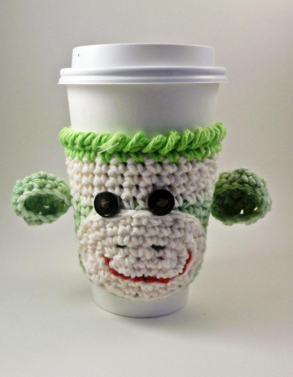 Coffee Cozy - Sock Monkey - Crochet.. on Luulla