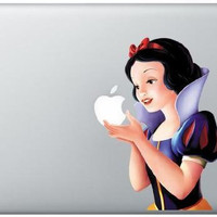 Full-color Snow White Holding Apple MacBook Pro Decal Ships Fast Skin Sticker