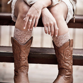 Peekaboo Lace for Your Boots Calf Socks