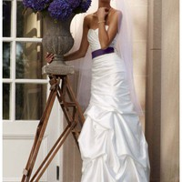 Buy Sweetheart Charmeuse Gown with Pick-Up Skirt Style WG3339  , from  for $126.28 only in Fashionwithme.com.