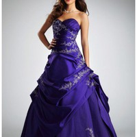 Buy Satin and Tulle Asymetrical Pick Up Ball Gown Style NTT9669  , from  for $156.25 only in Fashionwithme.com.