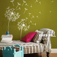 Vinyl Wall Sticker Decal Art Dandelions  by KinkyWall on Etsy