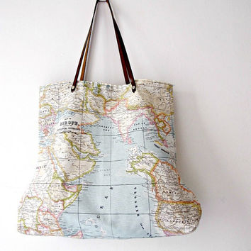 World Map Medium Tote Bag