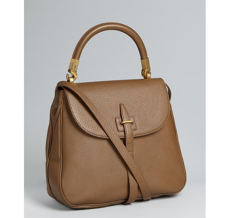 Yves Saint Laurent tobacco pebbled calfskin crossbody bag | BLUEFLY up to 70 off designer brands