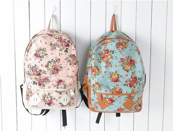 [Free shipping] Wholesale   Back To School New Fashion Girls&#x27; School Bag Flowers Designs Backpack-in Backpacks from Luggage &amp; Bags on Aliexpress.com