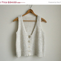 30% off SALE Slouchy Knit Crop Top - Oatmeal