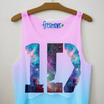 1D Galaxy Fresh Tops Crop Top | fresh-tops.com